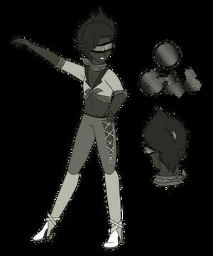 {~Steven Universe OC~} Silver Sheen Obsidian