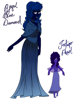 {~CLOSED~} Royal Blue Diamond and her Pearl Adopts
