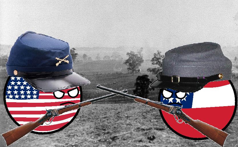 American Civil War countryballs