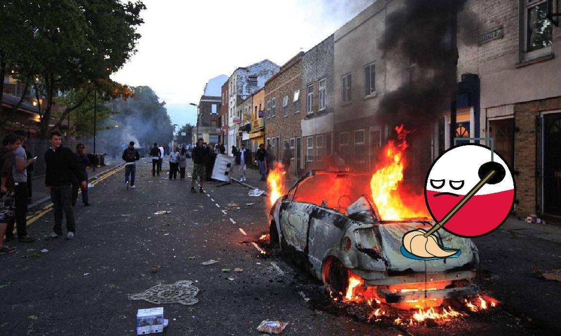 Polandball mopping London riots