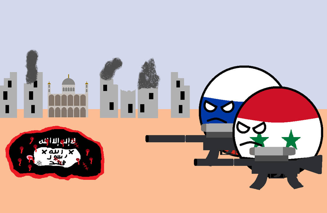 Russia and Syria defeat ISIS countryballs