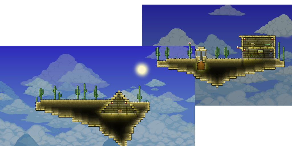 Epic Floating Island House On Terraria
