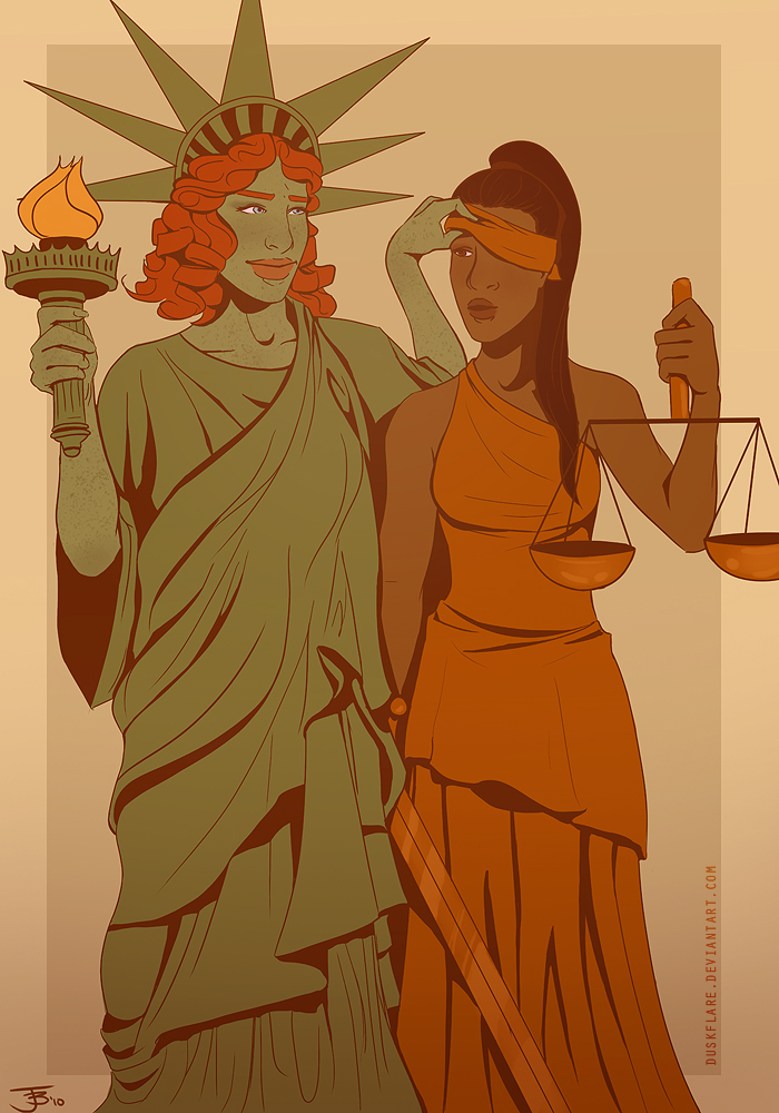 Liberty and Justice by duskflare