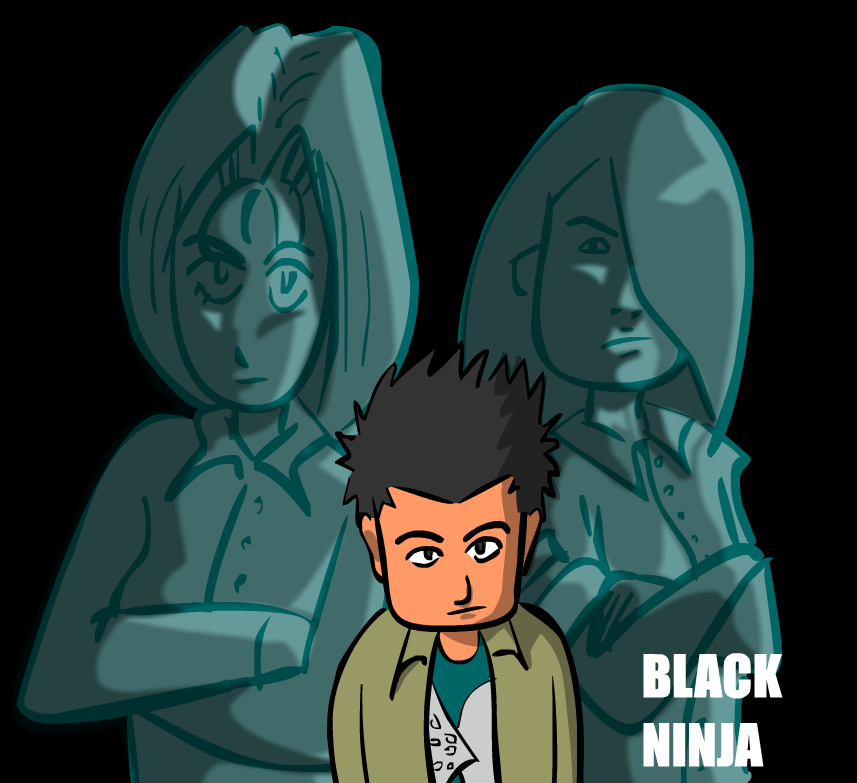 Black ninja poster 08 by KenSkaii