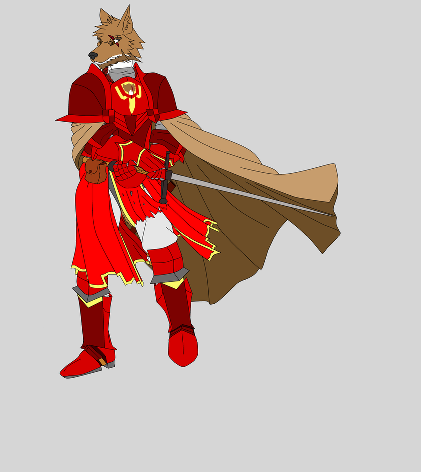 Sir Arthur Wolfenheart, The Crimson Knight by argenholydrake