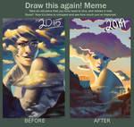 draw this again meme: I spy a smol man