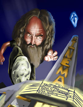 Caricature of Alan Moore