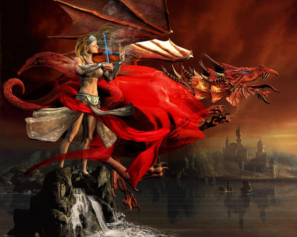 The Red Dragon Symphony by DAZ-3D