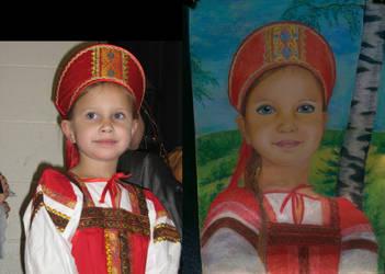 Little girl by JuliaSkyba
