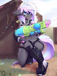 Paint gun fight