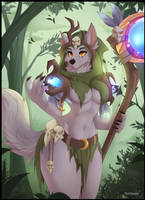 Bahra the Witchwolf by teranen