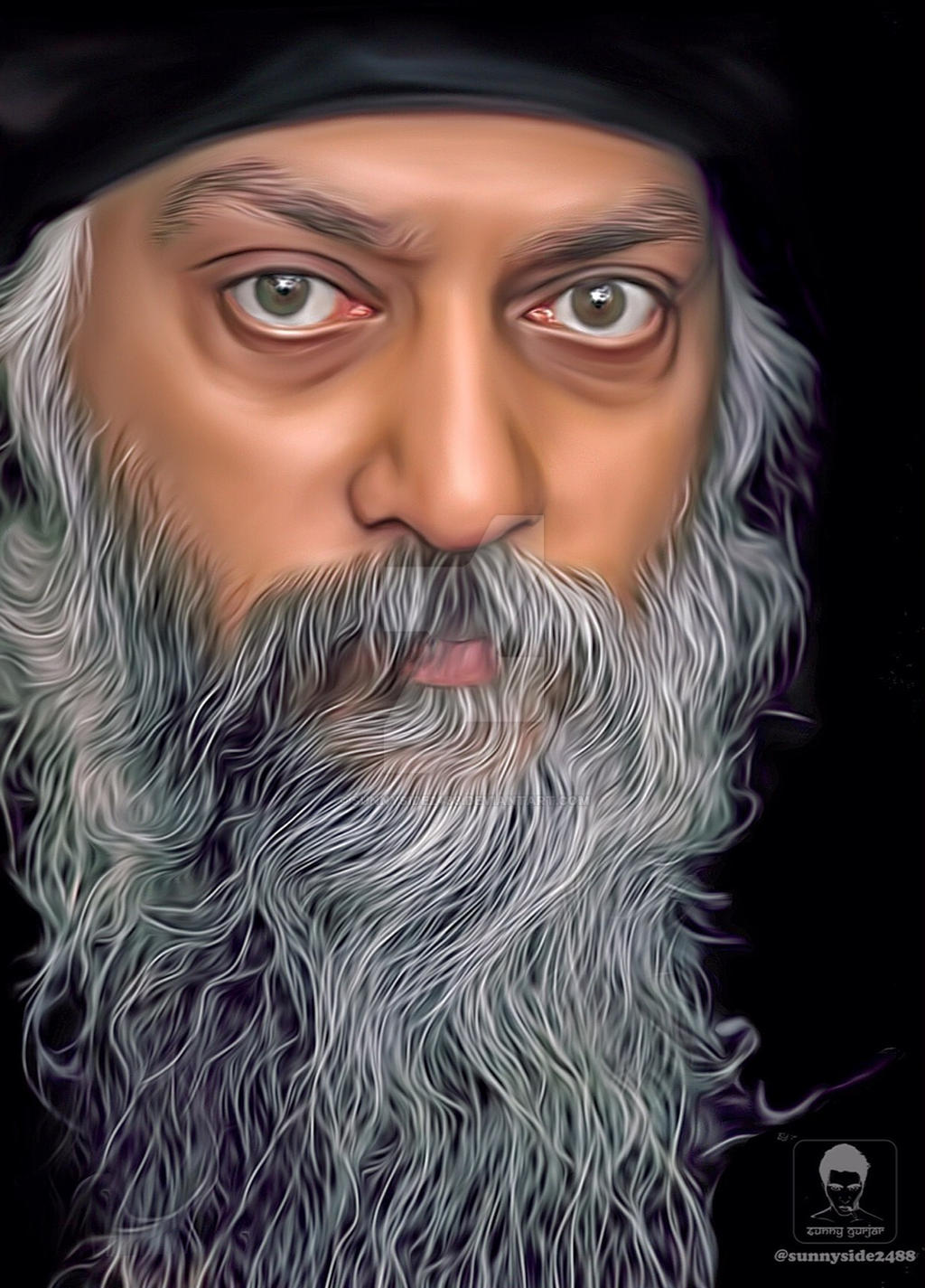 Osho Rajneesh Smudge Work