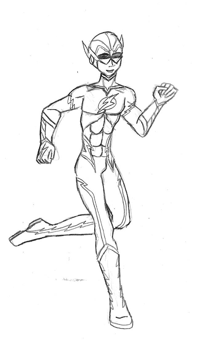 Teen titans kid flash by valor1387 on deviantart for Flash da colorare