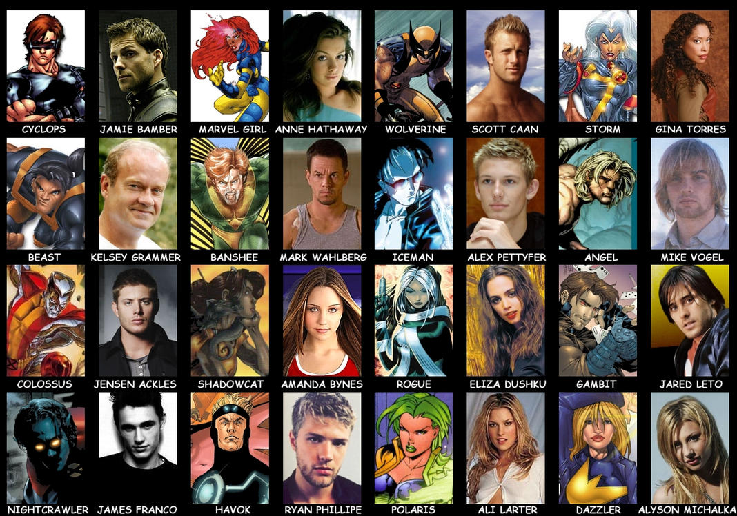 Men Reboot Casting by Valor1387 on DeviantArt X Men First Class Characters Names