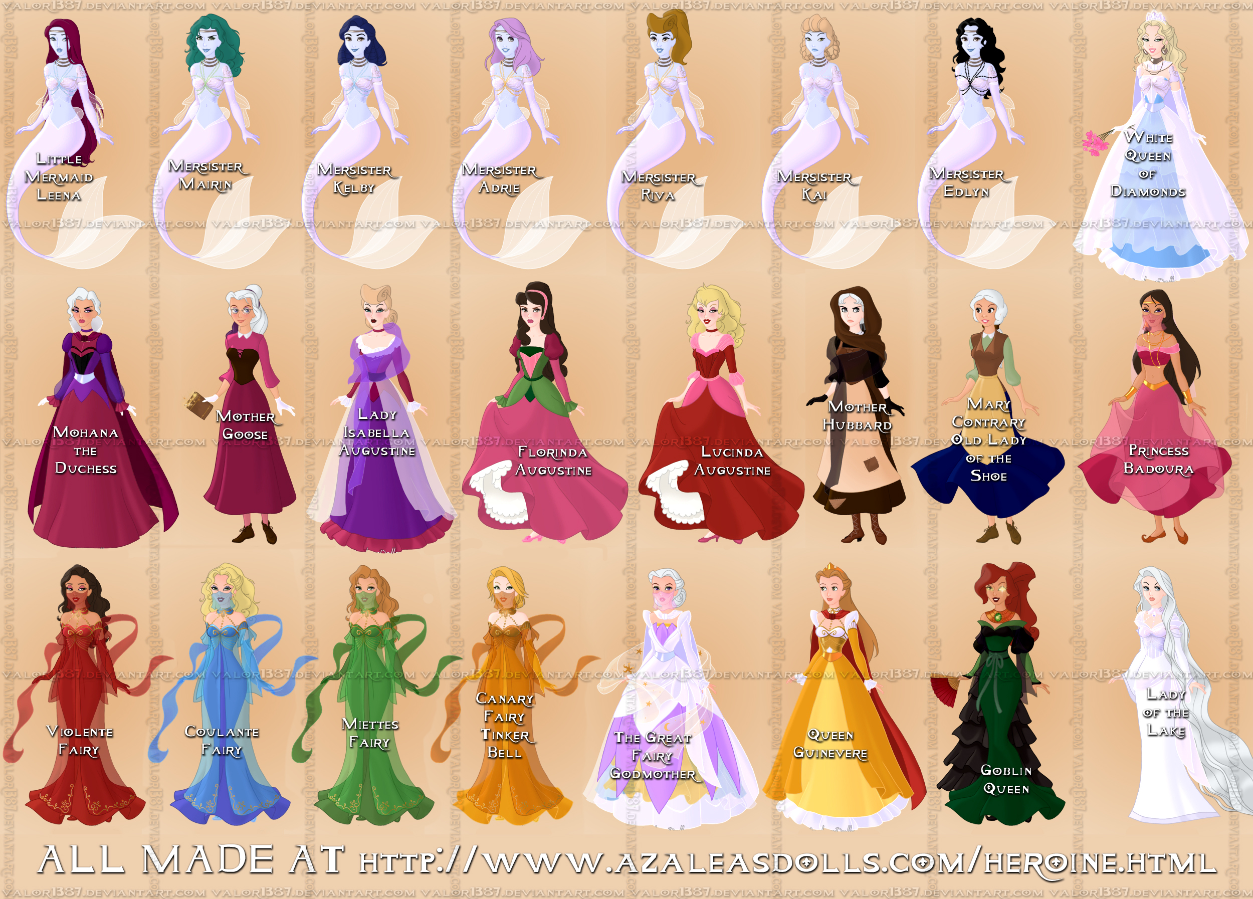 Girl fairy tale characters