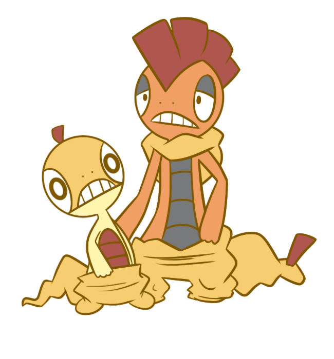 Scraggy and Scrafty by fanface on DeviantArt