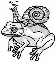 Royal Snail and Tree Frog by RanxStudio