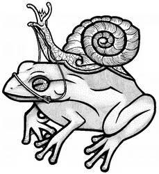 Royal Snail and Tree Frog