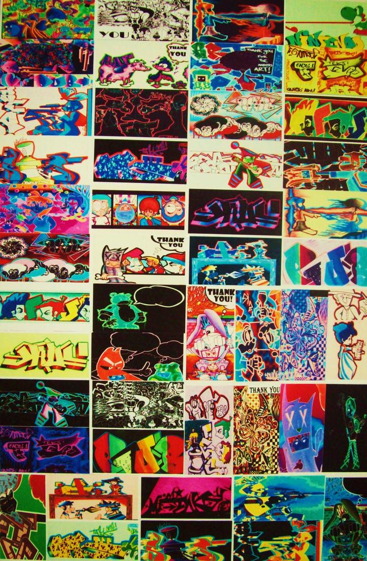 Sticker wall graffiti - Graffiti Sticker Wall Of Fame By Mf Mink