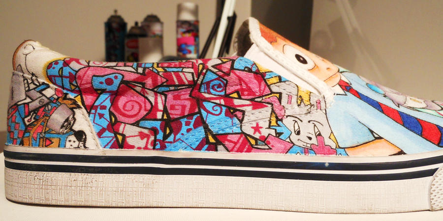 Graffiti Shoe Art 2012 by MF-minK