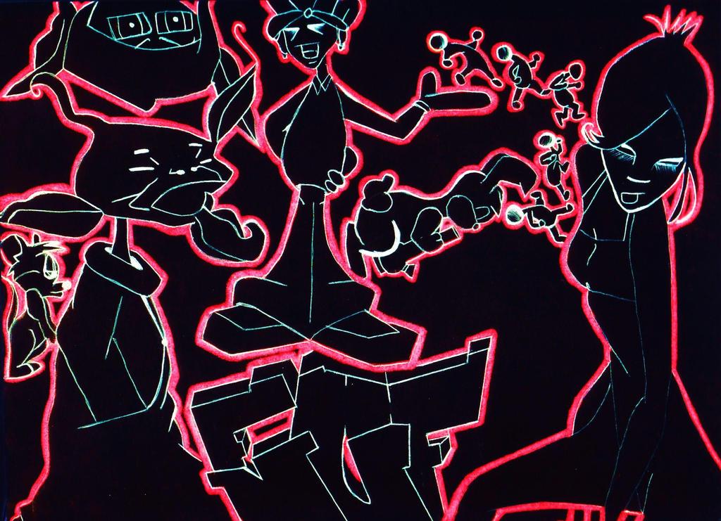 Chalkboard Graffiti Art by MF-minK