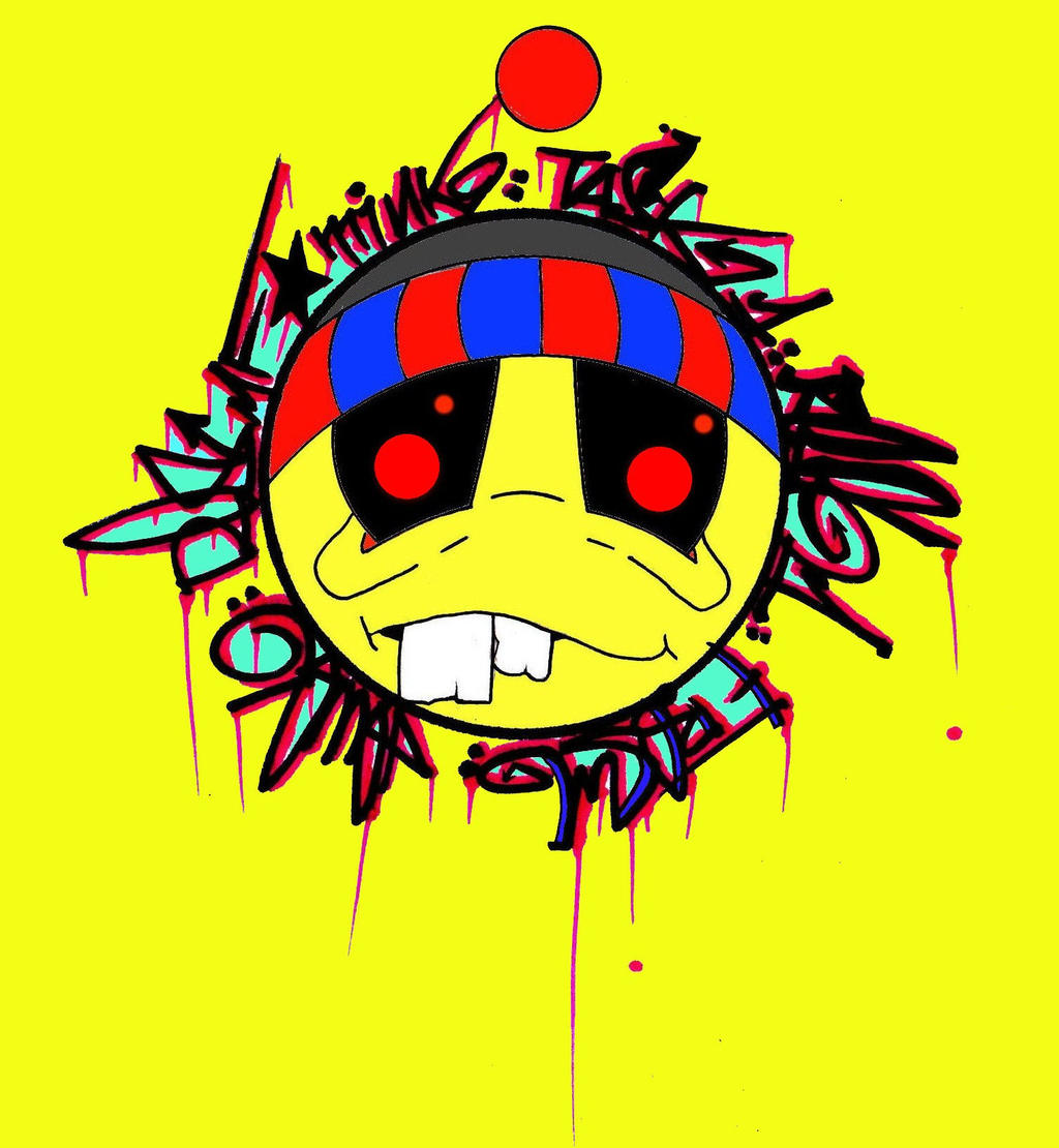 YELLOW Graffiti Smiley Face Sticker by MFminK on DeviantArt