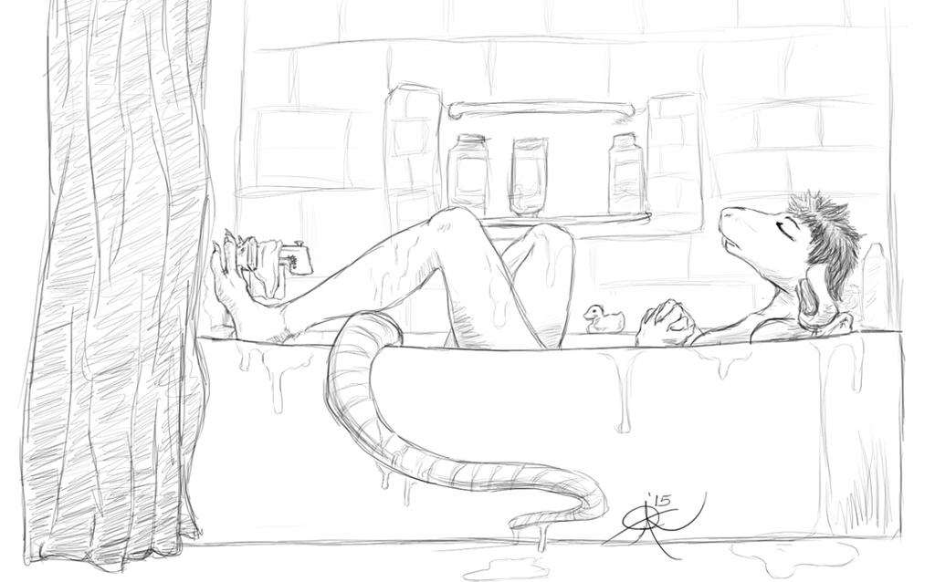 Bath Tiem by MistressVixen