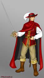 Tebaldo de la Rouge, the Red Mage by ReevScythe