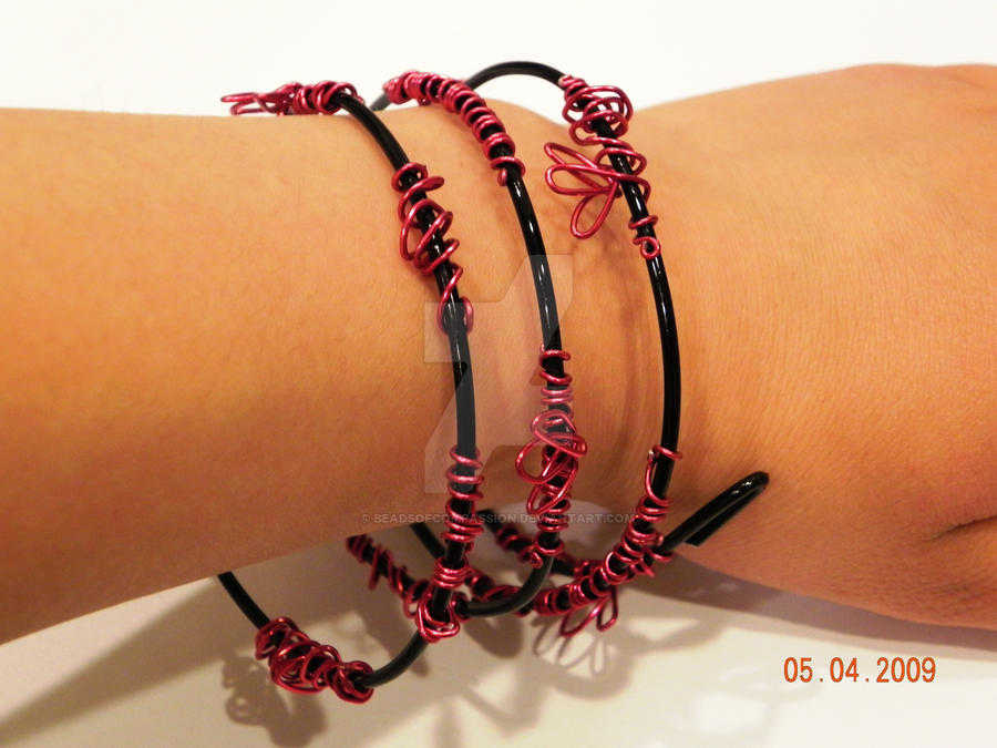 Spiral Blossoms bracelet by beadsofcompassion