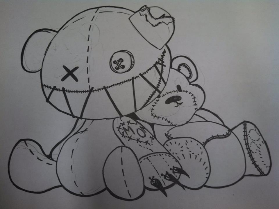 teddy bear and evil bear by ChoMeiSter14