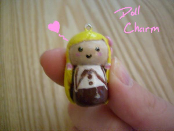 Cute Doll Charm by Demi-Plum