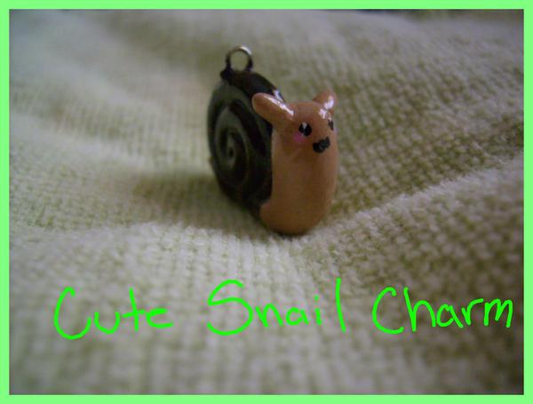 Cute Snail Charm by Demi-Plum