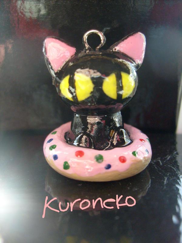 Kuroneko In a Doughnut by Demi-Plum