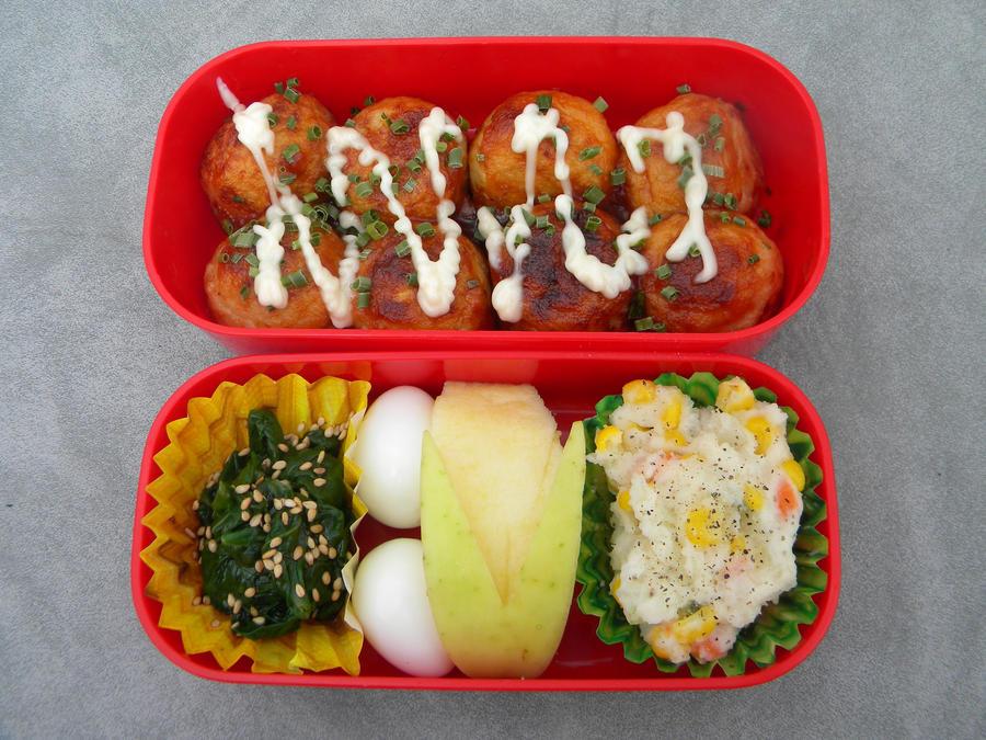 Takoyaki Bento by Demi-Plum