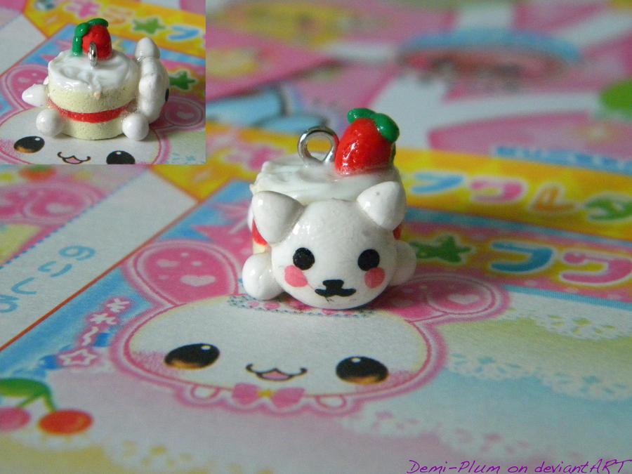 Strawberry Nyanko Shortcake by Demi-Plum