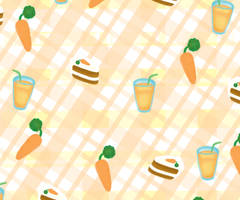 A Carrot Colored Pattern by Demi-Plum