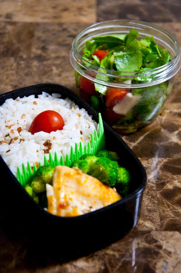 Asian Glazed Fish Bento by Demi-Plum