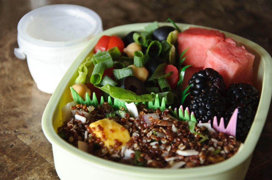 Quinoa Salad Bento by =Demi-Plum