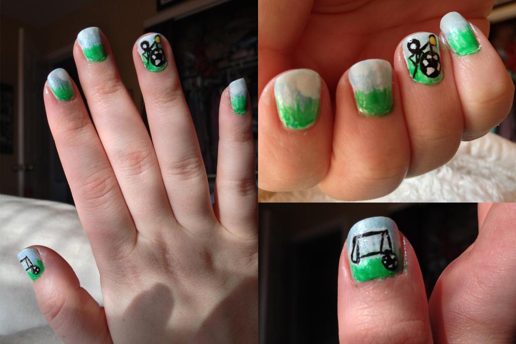 Cute Simple Soccer Nails By Demi Plum On Deviantart