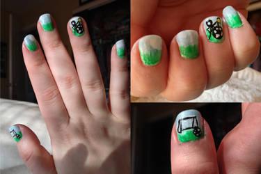 Cute Simple Soccer Nails