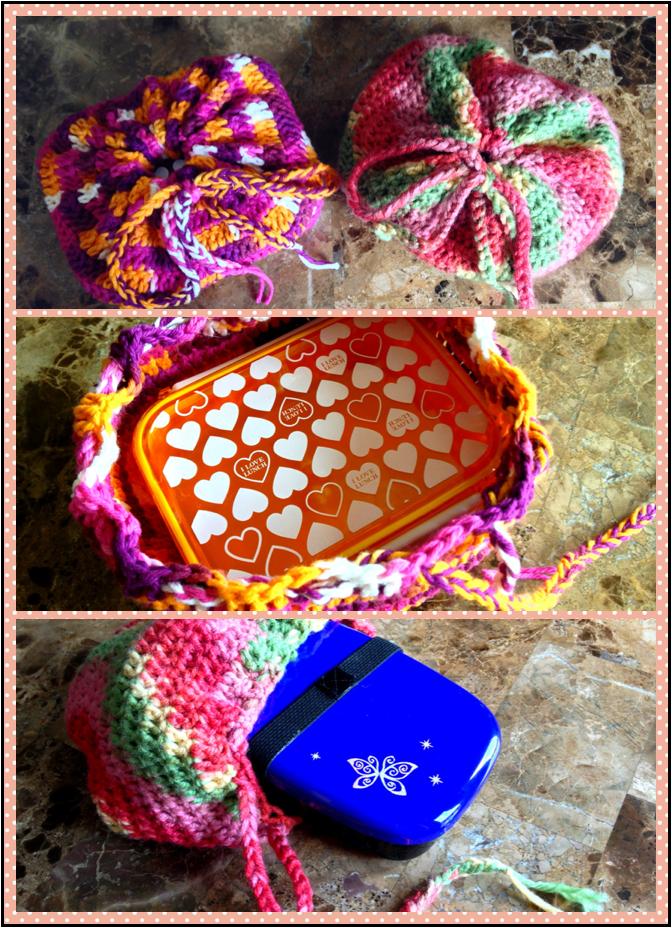 Crochet Bento Bags by Demi-Plum