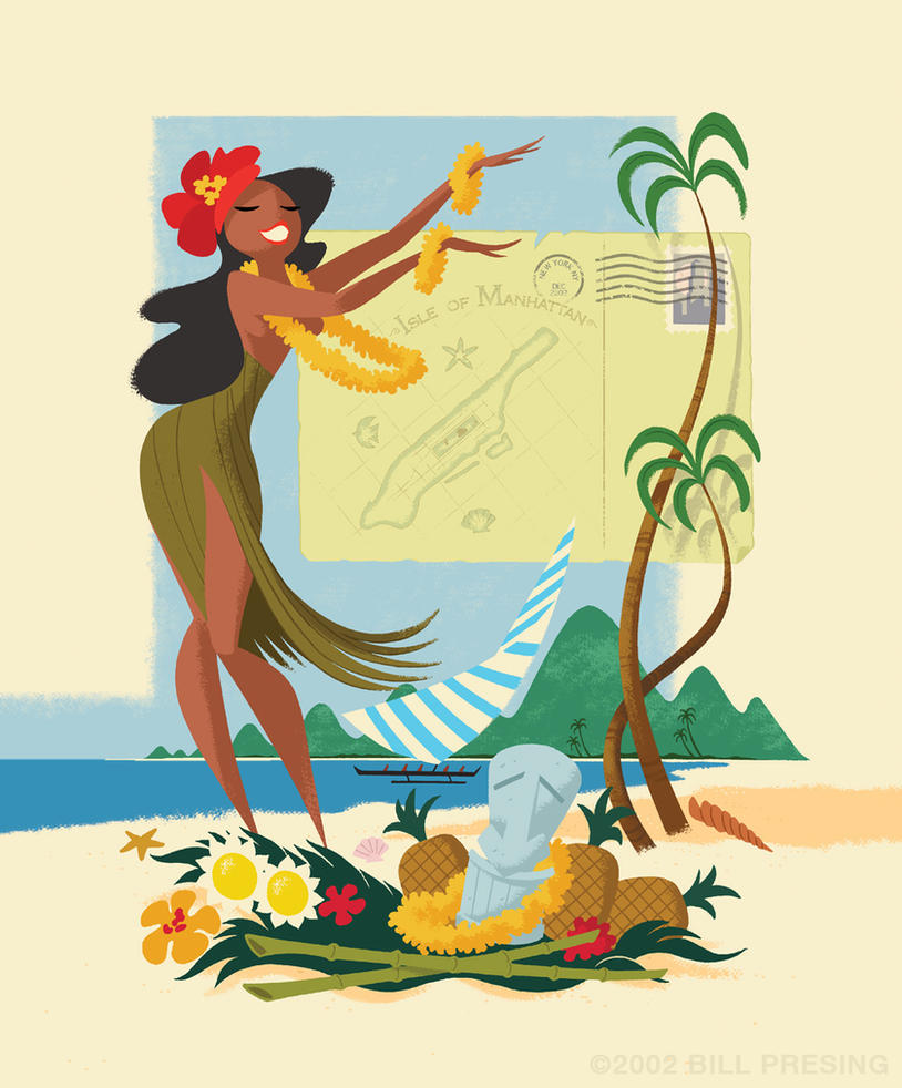 Hula Card by bpresing