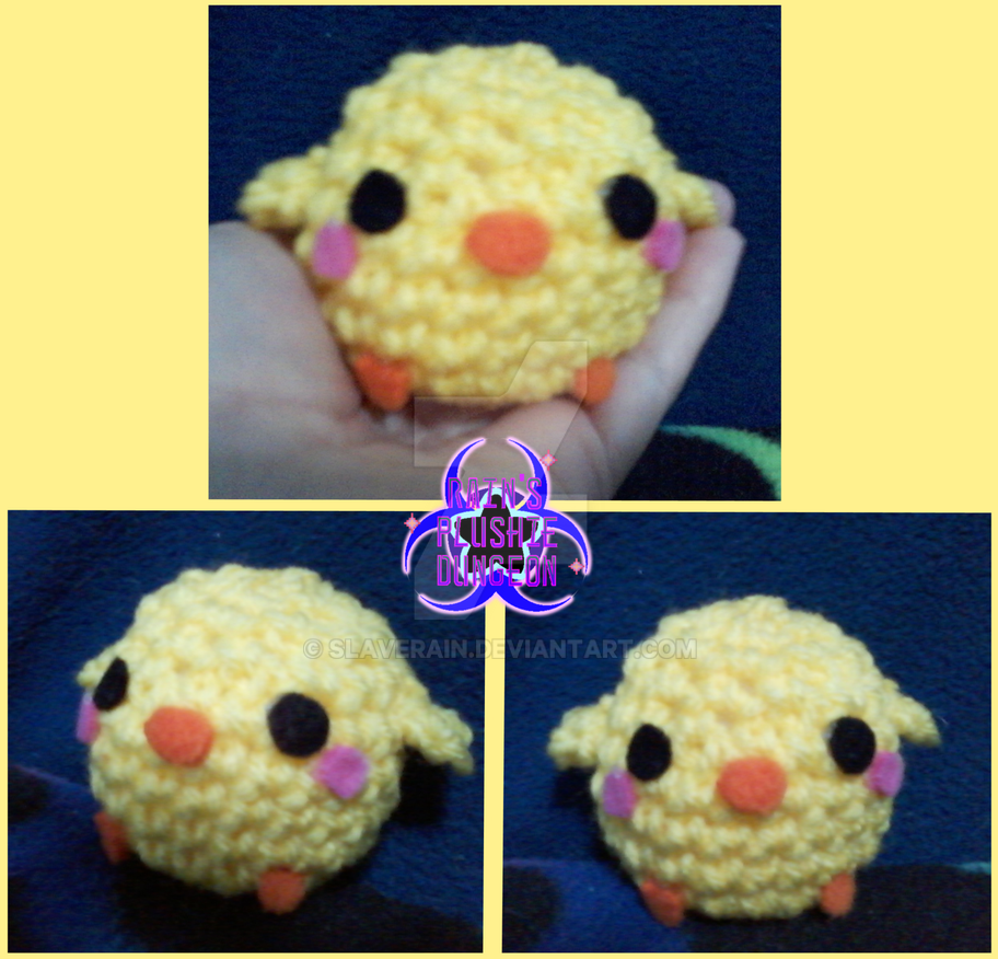 Amigurumi Baby Chicks : Mini Amigurumi Kawaii Baby Chick/Cucco by SlaveRain on ...