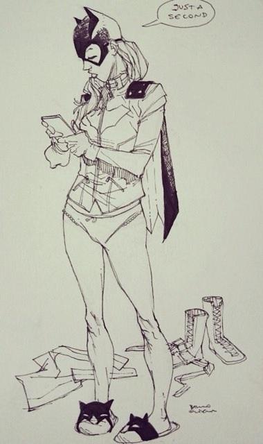 Batgirl inks by bbrunoliveira