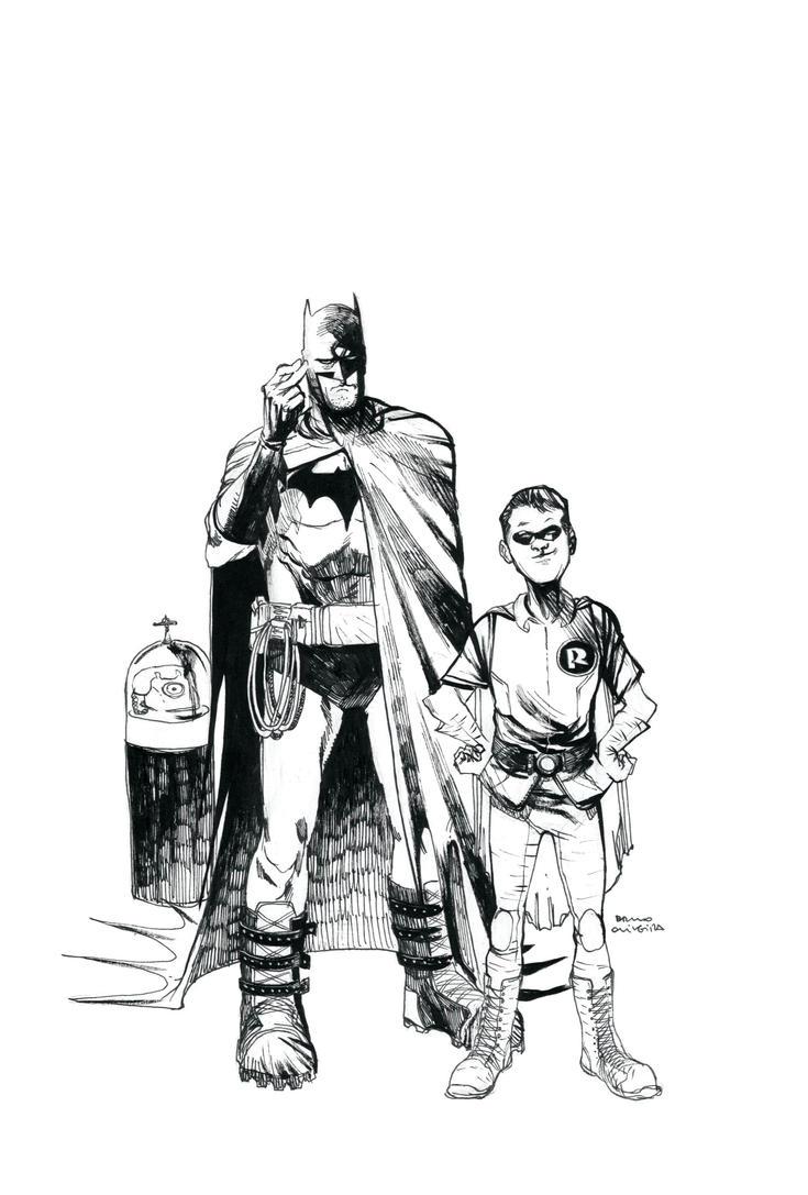Batman-robinbw by bbrunoliveira