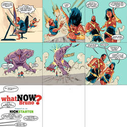 Kickstarter new comic Heroes by bbrunoliveira