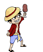 Luffy and the meat by NikkiReam