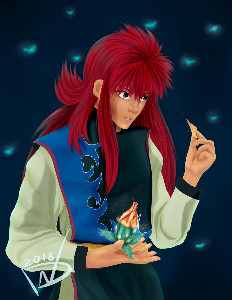 Kurama's magic by NikkiReam
