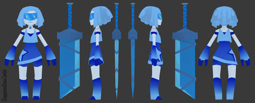 3D Lowpoly - Gemsona (Kyanite) by MissingSock