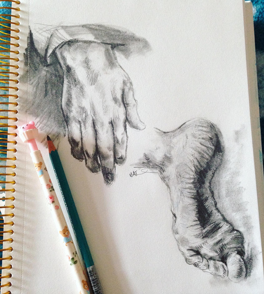 Hands and feet of famous artists by nataliatorres209